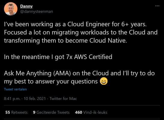 Original tweet Danny