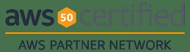AWS 50 certified badge